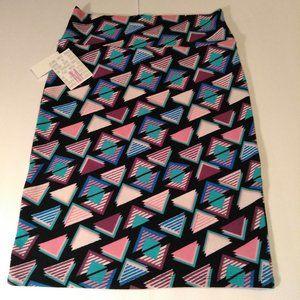 LuLaRoe Triangle Print Skirt, Medium